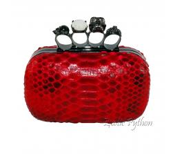 Python clutch red motive shiny CL-88
